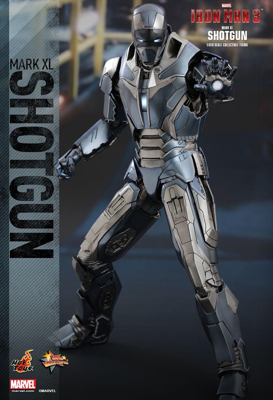 Action Figure Homem de Ferro (Iron Man Shotgun) Mark XL: Homem de Ferro 3 (Iron Man 3) Escala 1/6 (MMS309) - Hot Toys