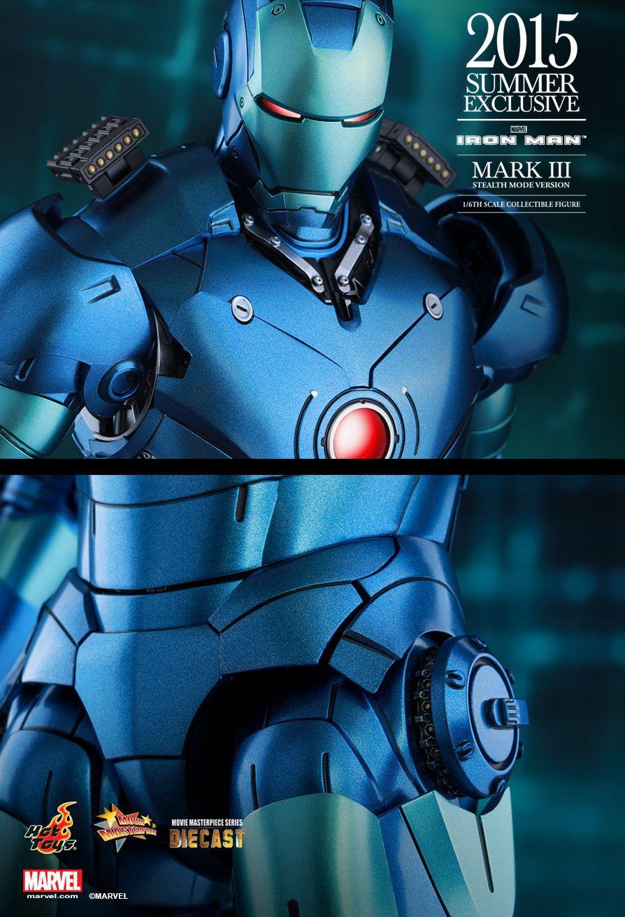 Action Figure Homem de Ferro Mark 3 (Iron Man Mark III) - Stealth Mode - Escala 1/6 (MMS314D12) - Hot Toys Exclusive