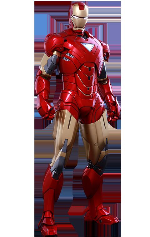 "Action Figure  ""Homem de Ferro Mark VI"" (Iron Man Mark VI): Homem de Ferro 2 (Iron Man 2) Escala 1/6  - Empire Toys"