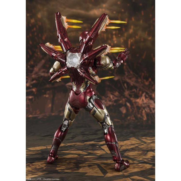 "Action Figure Homen de Ferro Mark 85 Batalha Final ""Iron Man Mk-85 Final Battle"": Vingadores Ultimato - S.H. Figuarts"