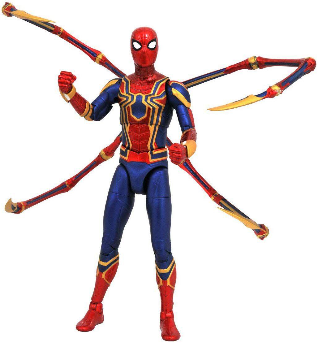 Action Figure Iron Spider: Vingadores Guerra Infinita (Infinity War) Boneco Colecionável - Marvel Select