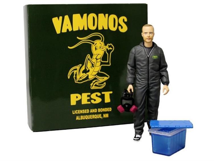 Action Figure Jesse Pinkman (Black Hazmat Suit): Breaking Bad - Mezco