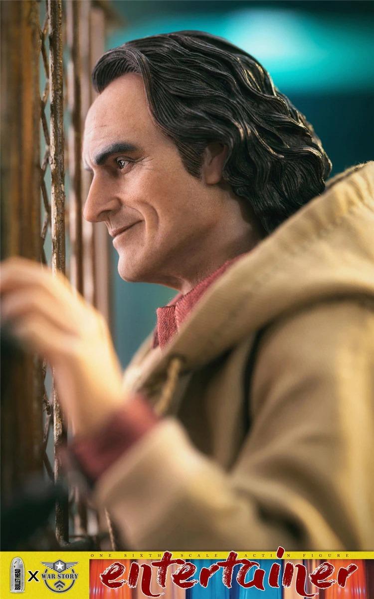 Action Figure Joaquin Phoenix Arthur Fleck Coringa Joker Casual Versão DC Comics Escala 1/6 - BulletHead - EVALI