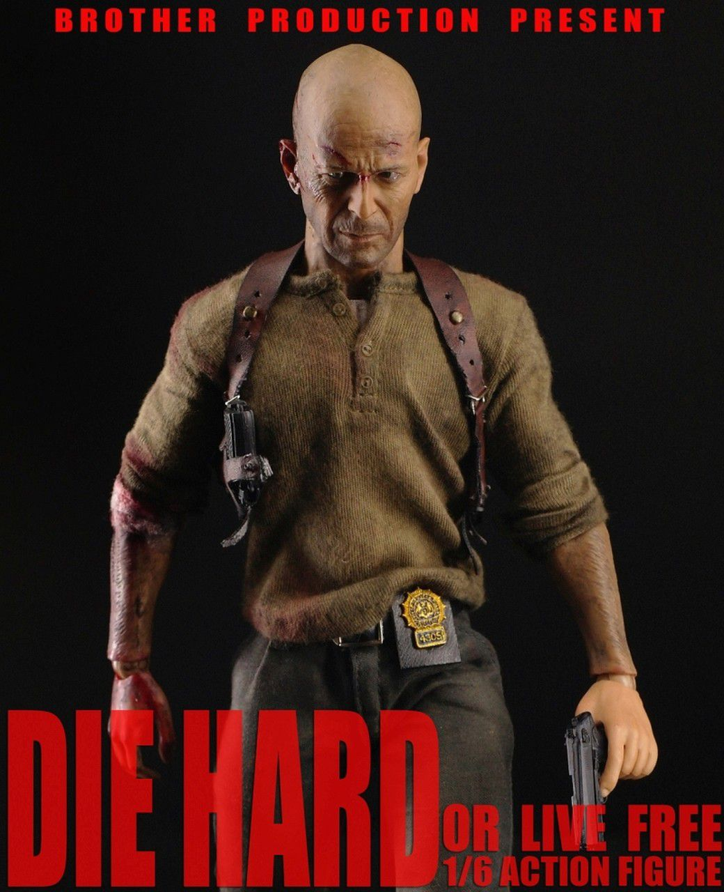 Action Figure John McClane: Duro de Matar 2.0 (Die Hard or Live Free) Escala 1/6 - Brother Production - CDL