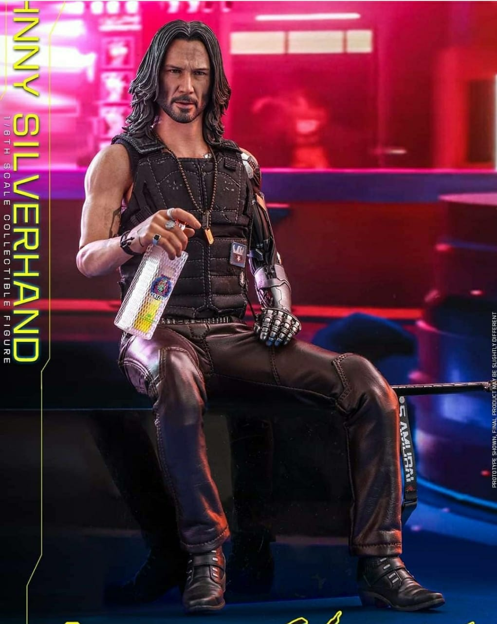 PRÉ VENDA: Action Figure Johnny Silverhand: Cyberpunk 2077 (VGM47) (Escala 1/6) - Hot Toys