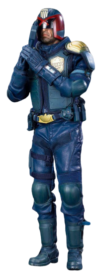 Action Figure Juiz Dredd (Judge Dredd Heavy Armored Special Cop): Juiz Dredd (Judge Dredd) Escala 1/6 - Art Figures