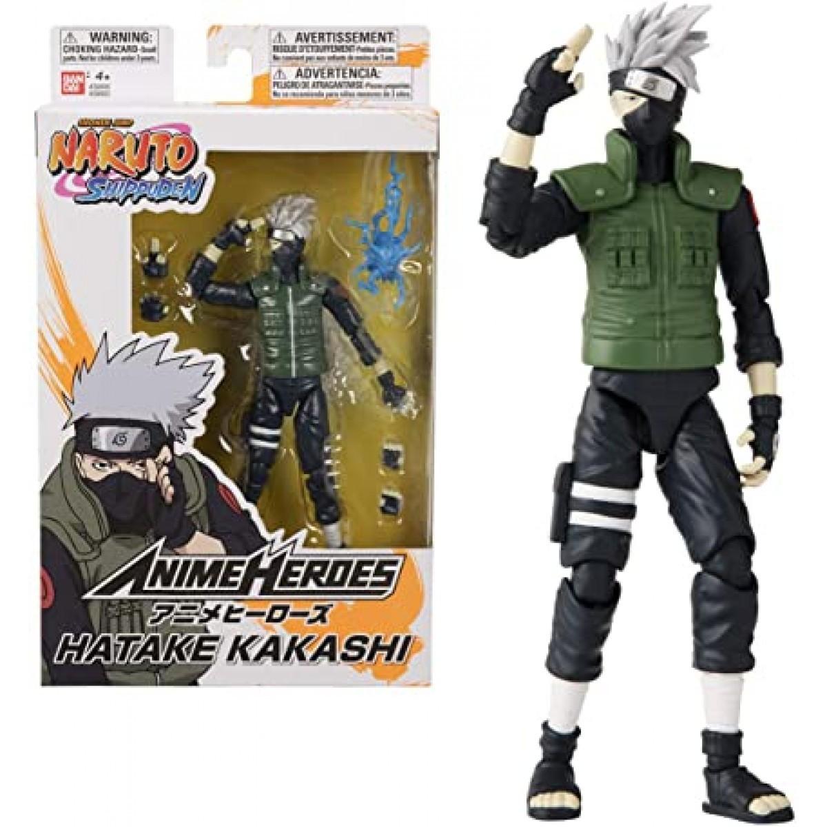 Action Figure: Kakashi Hatake: Naruto Shippuden (Anime Heroes) Anime Mangá - Bandai