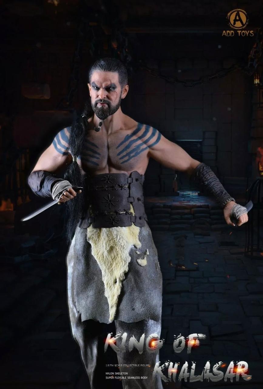 Action Figure Khal Drogo: King Of Khalasar Game Of Thrones Escala 1/6 - Add Toys (Apenas Venda Online)