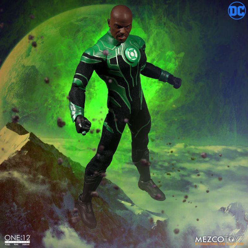 Action Figure Lanterna Verde (Green Lantern) John Stewart: DC Comics (Escala 1/12) ONE:12 - Mezco