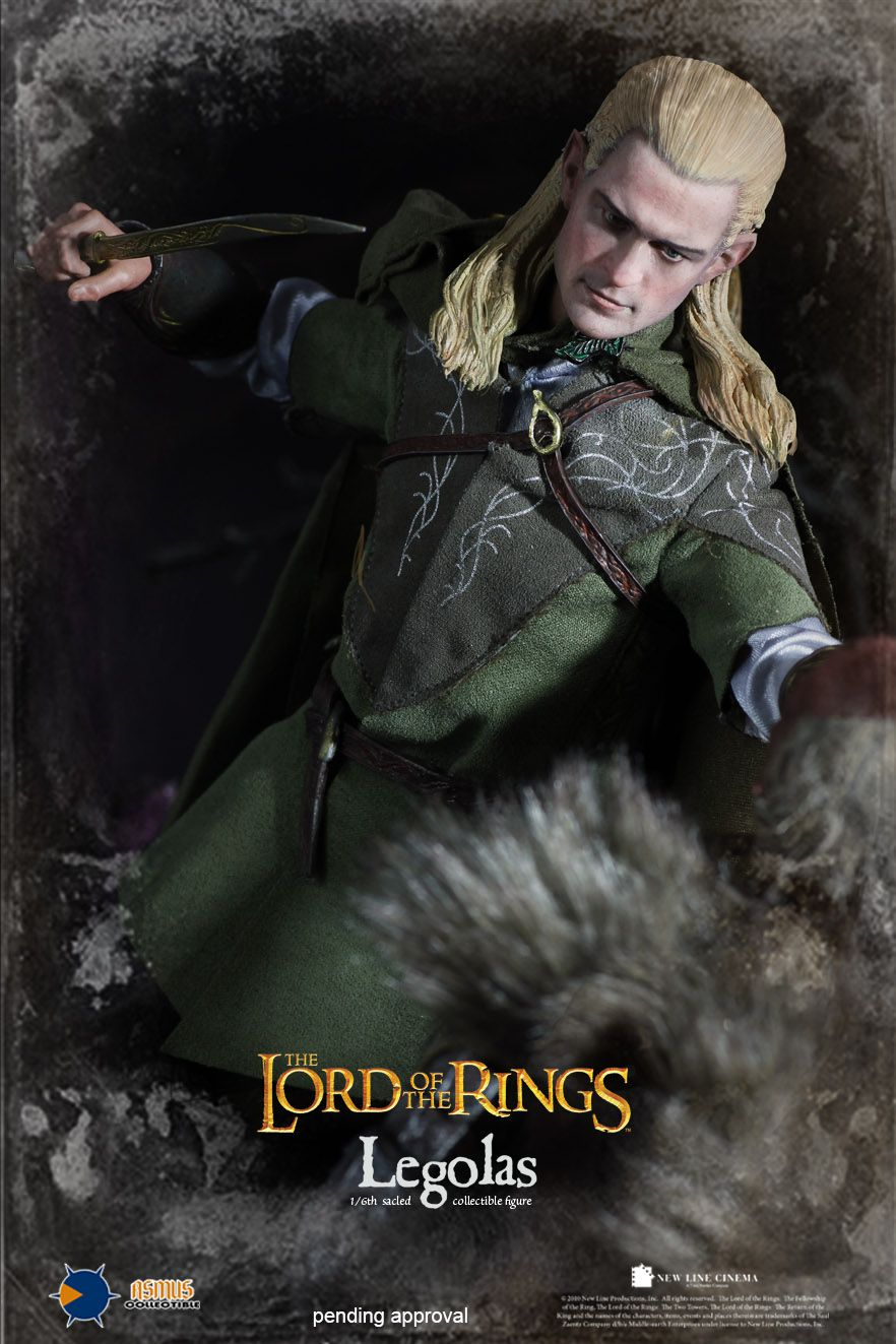 Action Figure Legolas: O Senhor dos Anéis (The Lord of the Rings) Escala 1/6 - Asmus Toys