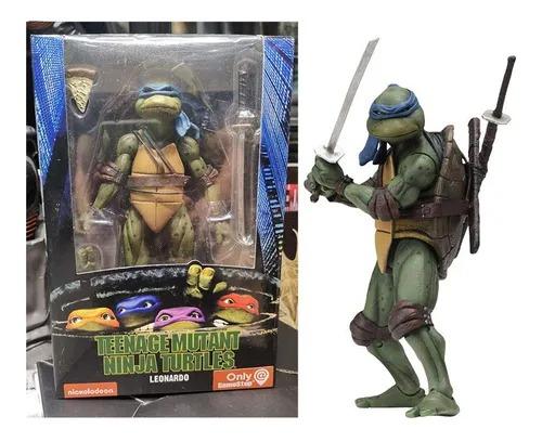 Action Figure Leonardo Tartarugas Ninja Teenage Mutant Ninja Turtles 1990 Escala 1/12 - NECA
