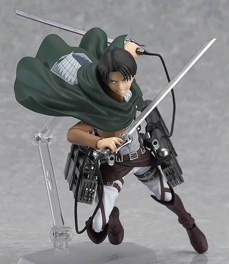 Action Figure Levi Ackerman: Ataque dos Titãs Attack on Titan Shingeki no Kyojin - Figma - EV
