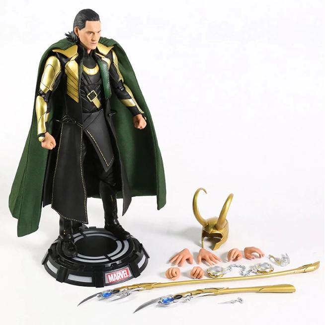 Action Figure Loki: Vingadores Avengers - Marvel - Escala 1/7 - Disney+ - EVALI