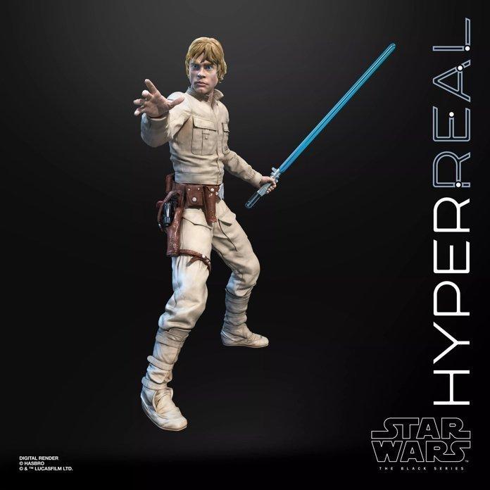 Action Figure Luke Skywalker Hyper Real: Star Wars (The Black Series) E6611 - Hasbro
