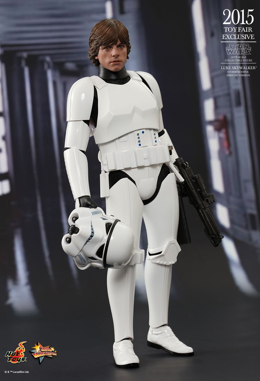 Action Figure Luke Skywalker (Stormtrooper Disguise Version): Star Wars Uma Nova Esperança (A New Hope) MMS304 (Escala 1/6) - Hot Toys