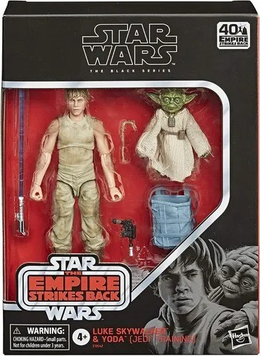 Action Figure Luke Skywalker & Yoda: Jedi Trainning Star Wars (The Black Series) (40th The Empire Strikes Back) E9642 - Hasbro