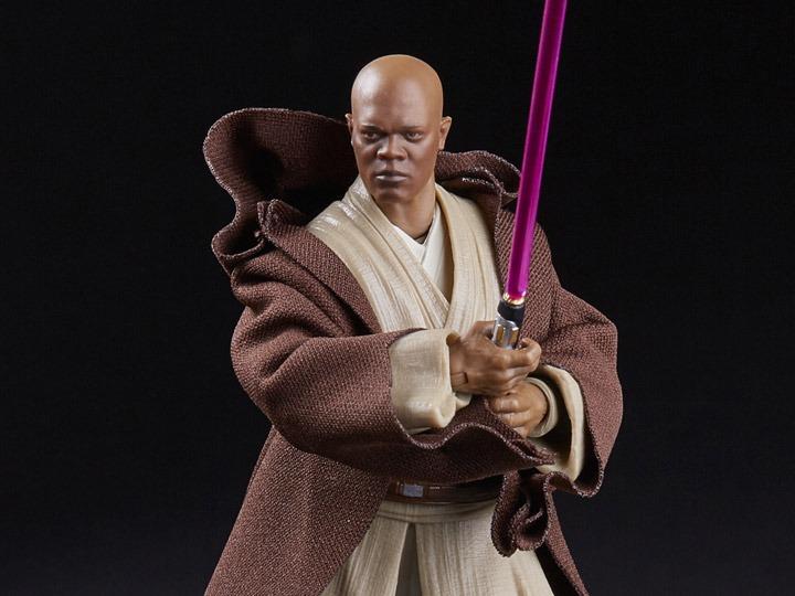 Action Figure Mace Windu: Star Wars The Black Series Episódio III  A Vingança dos Sith - Hasbro - EV