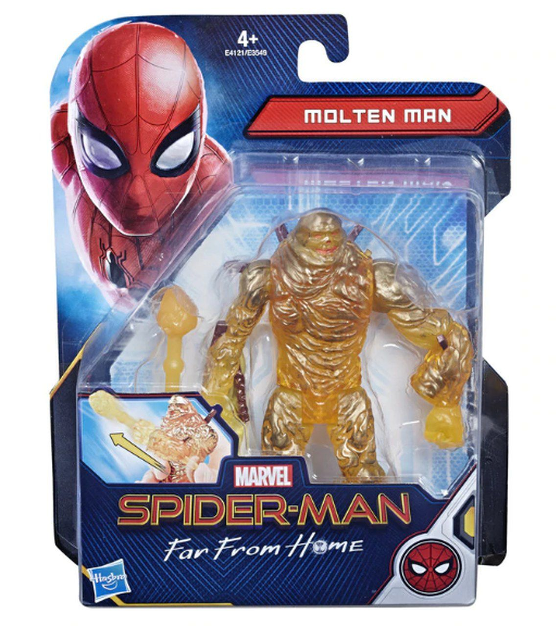 Action Figure Magma (Molten Man) 6'':Longe De Casa (Spider-Man Far From Home) Boneco Colecionável - Hasbro