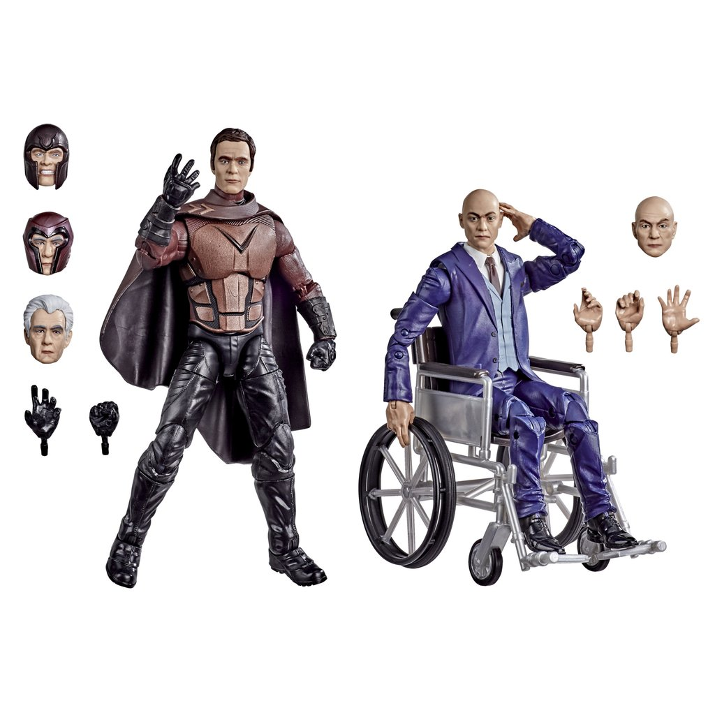 Action Figure Magneto e Professor X: X-Men (Marvel Legends Series) - Hasbro