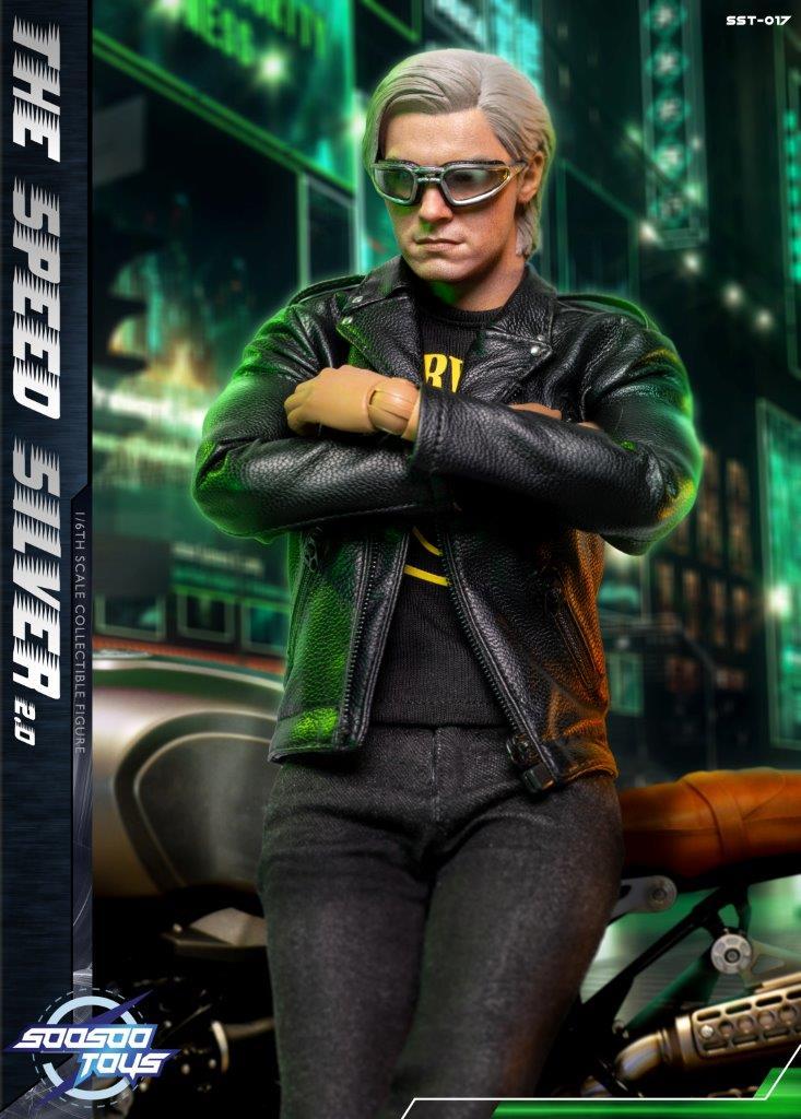 Action Figure Mercurio SpeedSilver 2.0: X Men Dias de um Futuro Esquecido Escala 1/6 - SooSoo Toys - ET