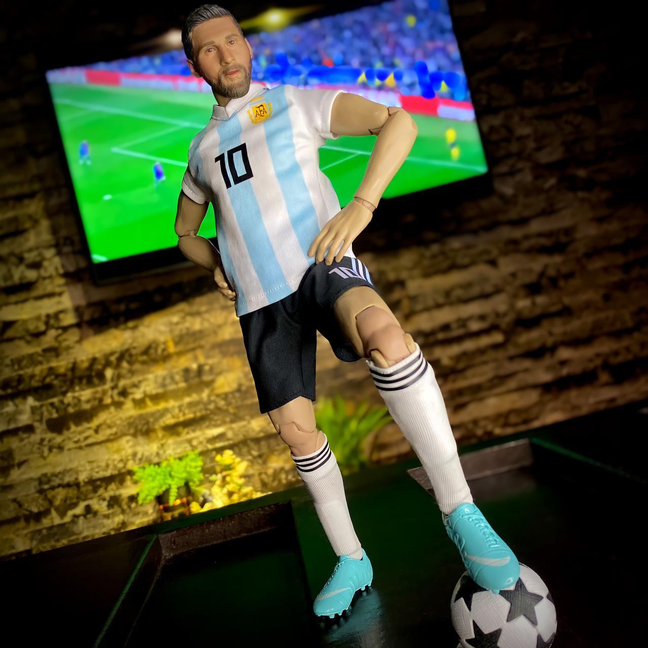 Action Figure Messi Argentina Futebol Soccer