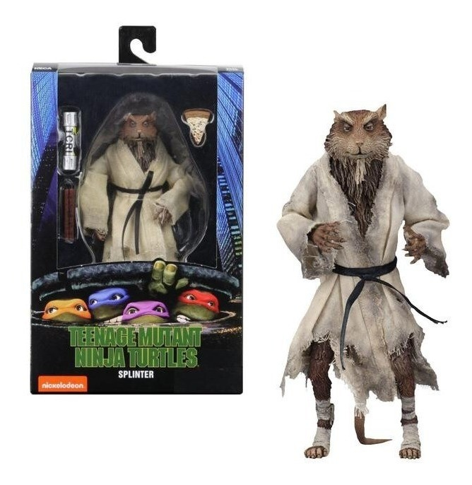 "Action Figure Mestre Splinter: As Tartarugas Ninjas ""Teenage Mutant Ninja Turtles"" - Neca"