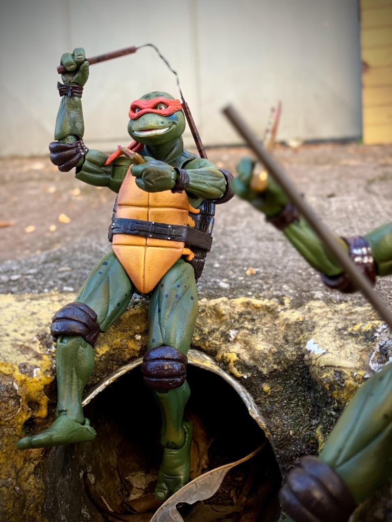 Action Figure Michelangelo Tartarugas Ninja Teenage Mutant Ninja Turtles 1990  Escala 1/12 - NECA