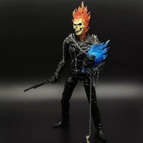Action Figure Motoqueiro Fantasma (Ghost Rider) ''Johnny Blaze'': Motoqueiro Fantasma - Crazy Toys