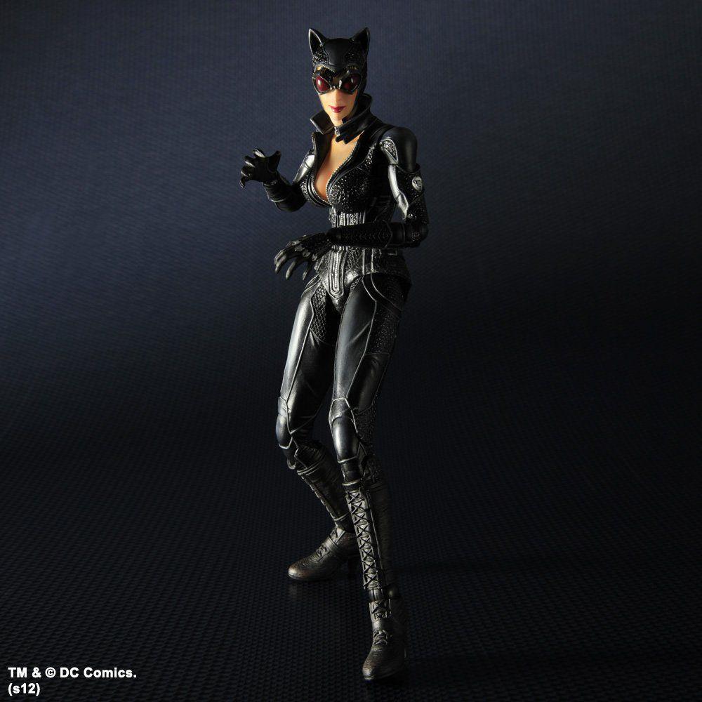 Action Figure Mulher-Gato (Catwoman): Batman Arkham City (Boneco Colecionável) - Play Arts Kai Square Enix