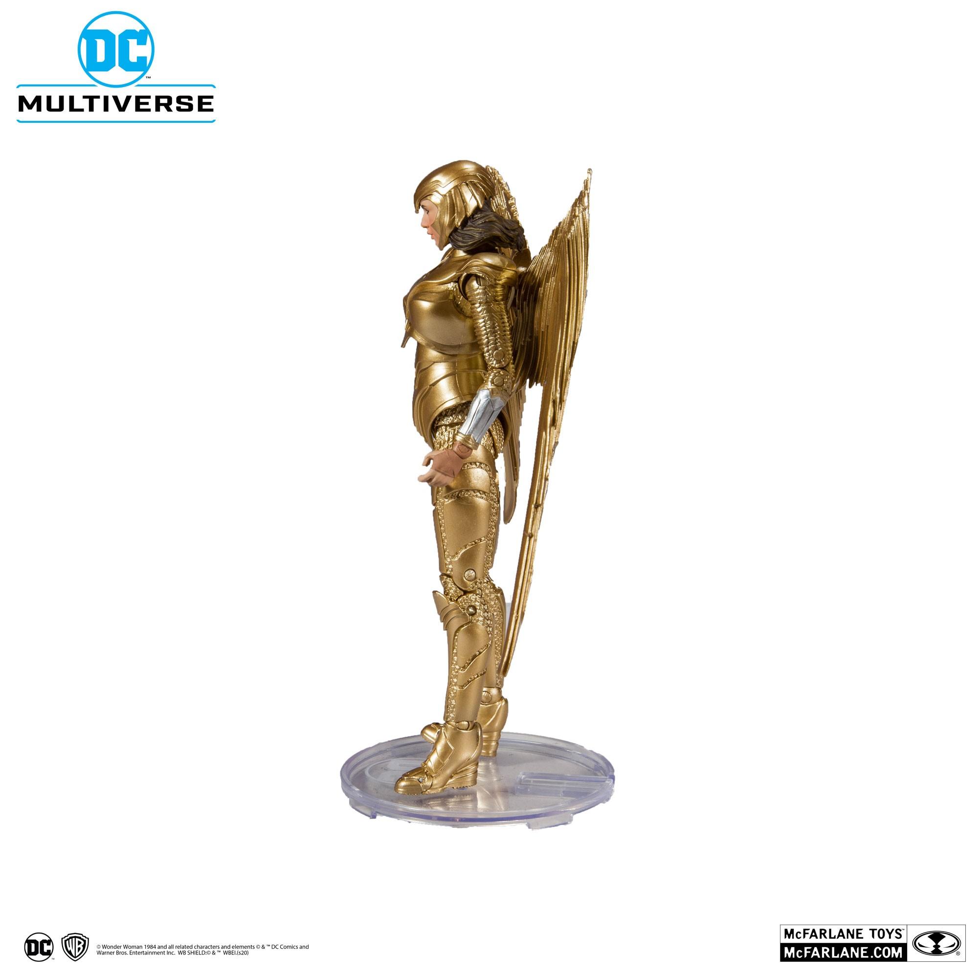 Action Figure Mulher Maravilha Armadura Dourada (Gold Armor): Wonde Woman 1984 (DC Multiverse) - McFarlane Toys