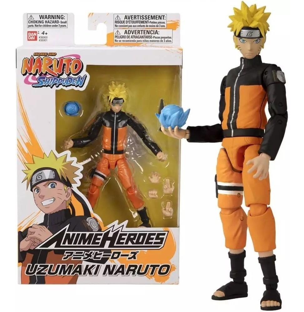 Action Figure: Naruto Uzamaki: Naruto Shippuden (Anime Heroes) Anime Mangá - Bandai