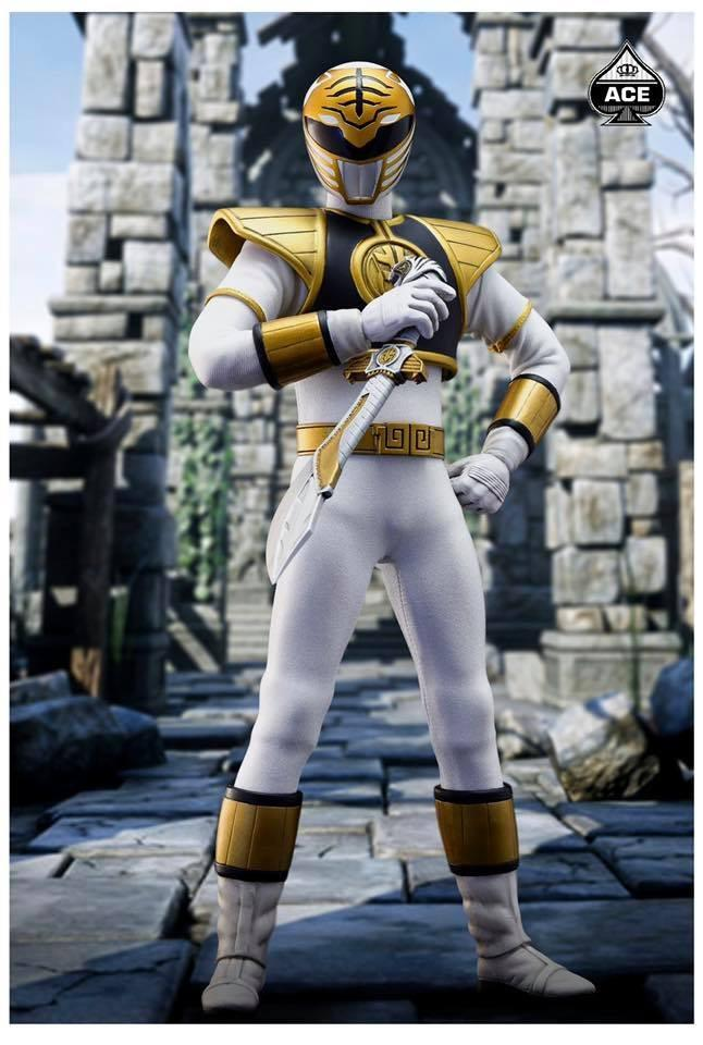 Action Figure O Clássico Super Herói Branco (The Classic Mighty Superhero): Power Ranger (Escala 1/6) CMSH-07 - Ace Toyz