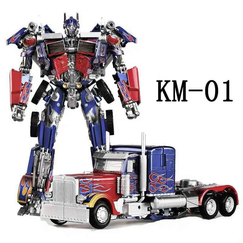 Action Figure Optimus Prime Knight Of Light: Transformes Die Cast Metal Transformation 30cm Knight Model Toy MK-01