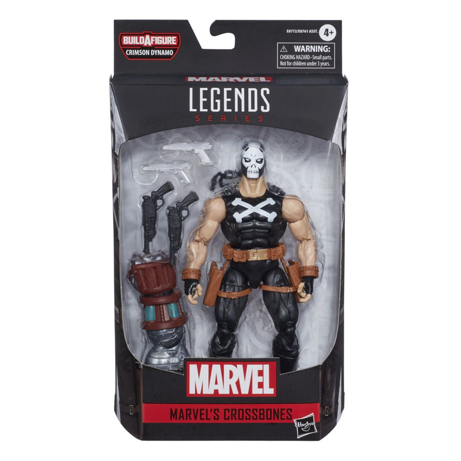 Action Figure Ossos Cruzados (Crossbones): Crimson Dynamo Build-A-Figure Marvel Legends Series E8772 - Hasbro