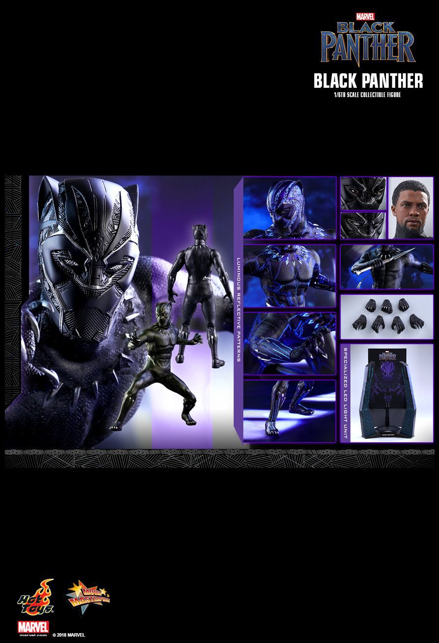 Action Figure Pantera Negra (Black Panther): Pantera Negra (Black Panther) MMS470 (Escala 1/6) - Hot Toys - CDL