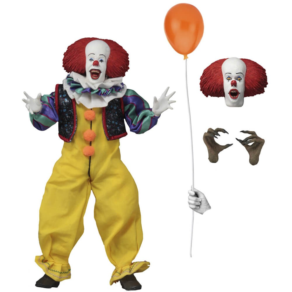 """Action Figure Pennywise - 8"""" Clothed Figure - IT (A Coisa 1990) - Neca"""