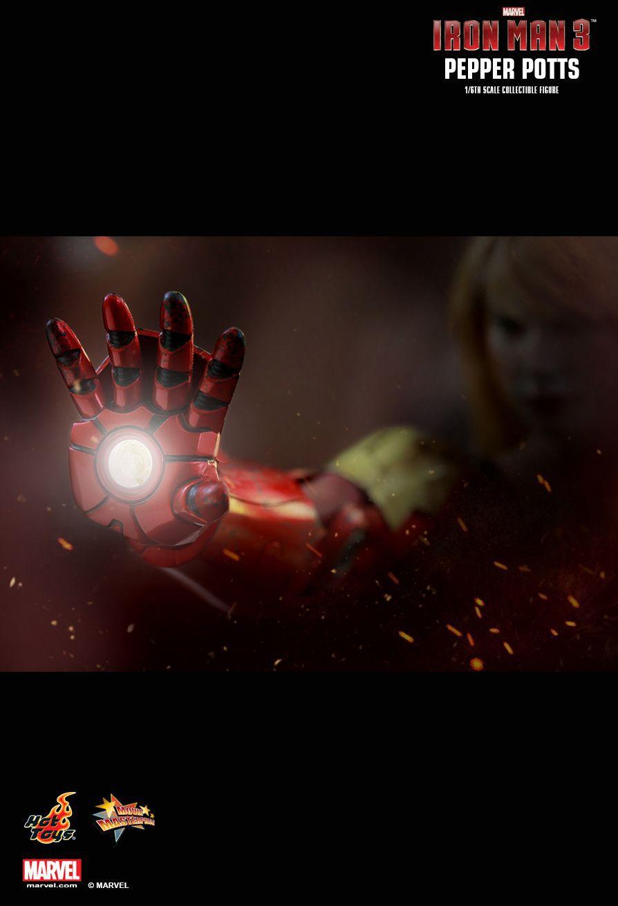 Action Figure Pepper Potts: Homem de Ferro 3 (Iron Man 3) Escala 1/6 (MMS310) - Hot Toys