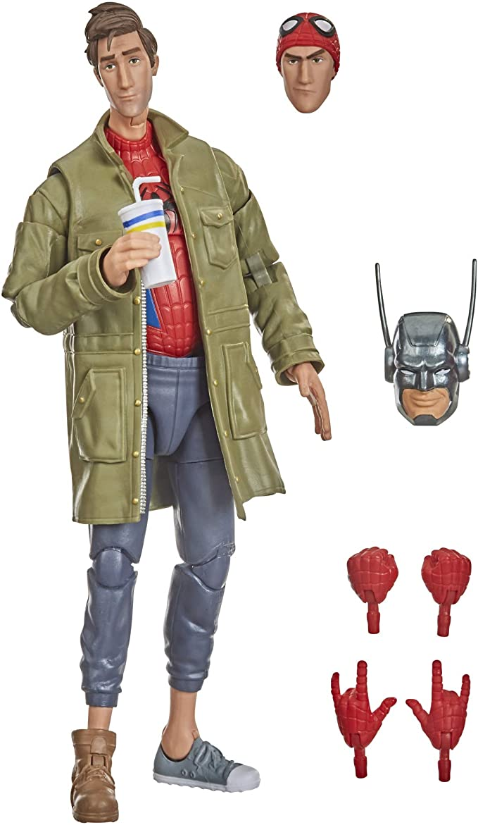 Action Figure Peter Parker: Homem-Aranha no Aranhaverso (SpiderMan Into The SpiderVerse) Marvel Legends Series - Hasbro