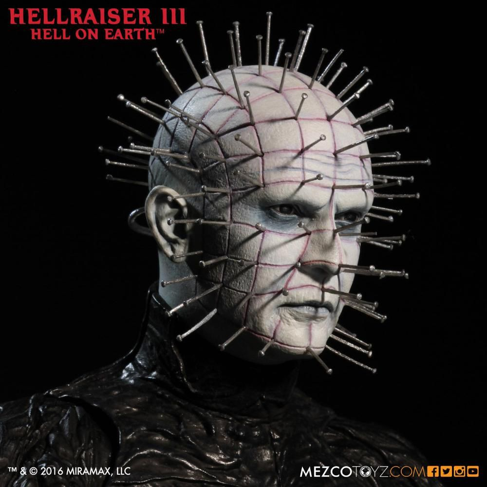Action Figure Pinhead: Hellraiser III Inferno na Terra (Hell on Earth) - Mezco