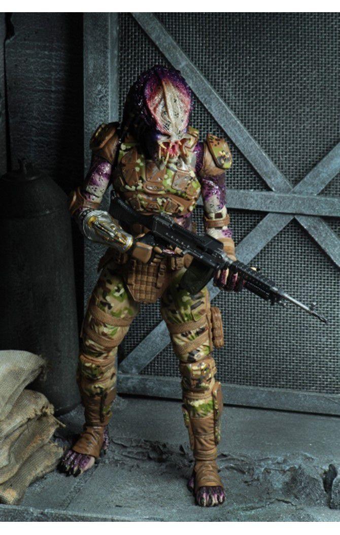 Action Figure Predador (Emissary): O Predador (The Predator  2018) Boneco Colecionável - Neca