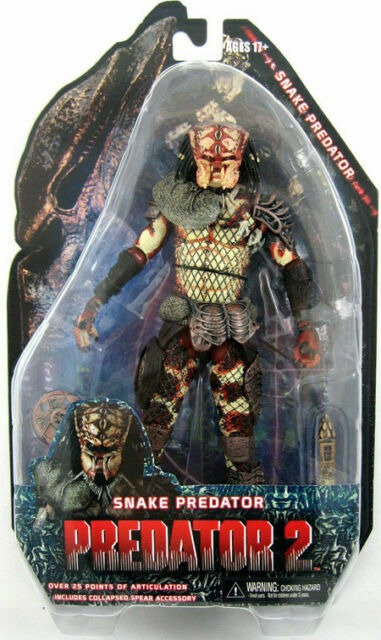 Action Figure Predador Predator: Predator 2 Predator 2 - Snake Predator Escala 1/18 - Neca