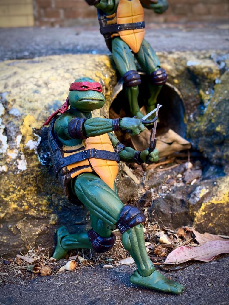 Action Figure Rafael Tartarugas Ninja Teenage Mutant Ninja Turtles 1990  Escala 1/12 - NECA