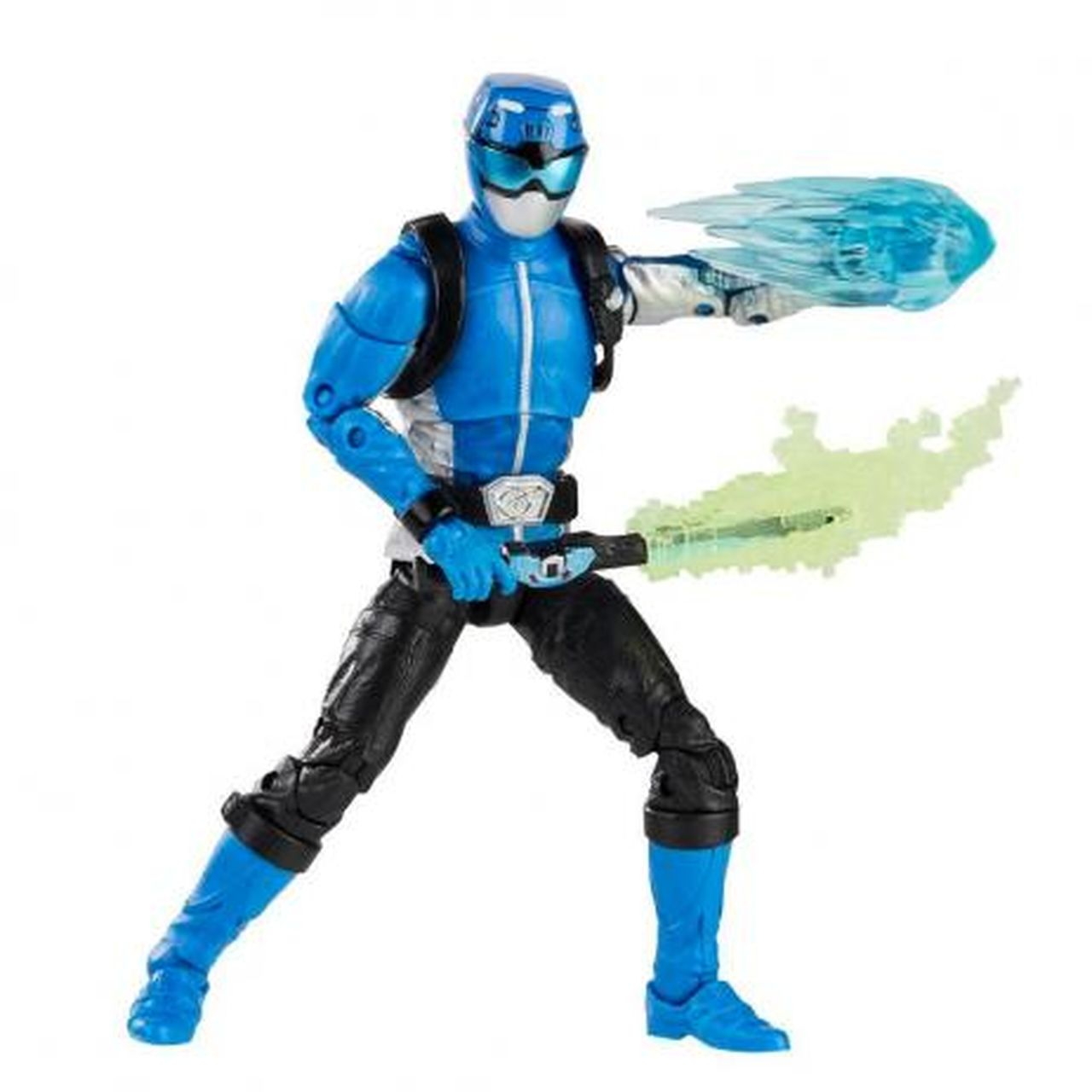 Action Figure Ranger Azul (Beast Morphers Blue Ranger): Power Rangers (Lightning Collection) - Hasbro