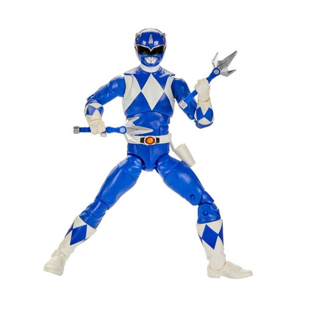 Action Figure Ranger Azul (Mighty Morphin Blue): Power Rangers (Lightning Collection) - Hasbro