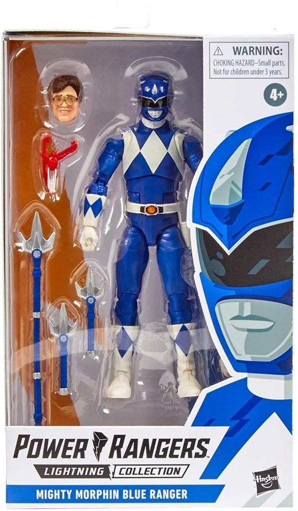 Action Figure Ranger Azul (Mighty Morphin Blue): Power Rangers (Lightning Collection) - Hasbro