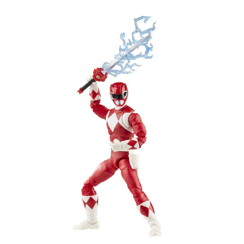 Action Figure Ranger Vermelho (Mighty Morphin Red Ranger): Power Rangers (Lightning Collection) - Hasbro