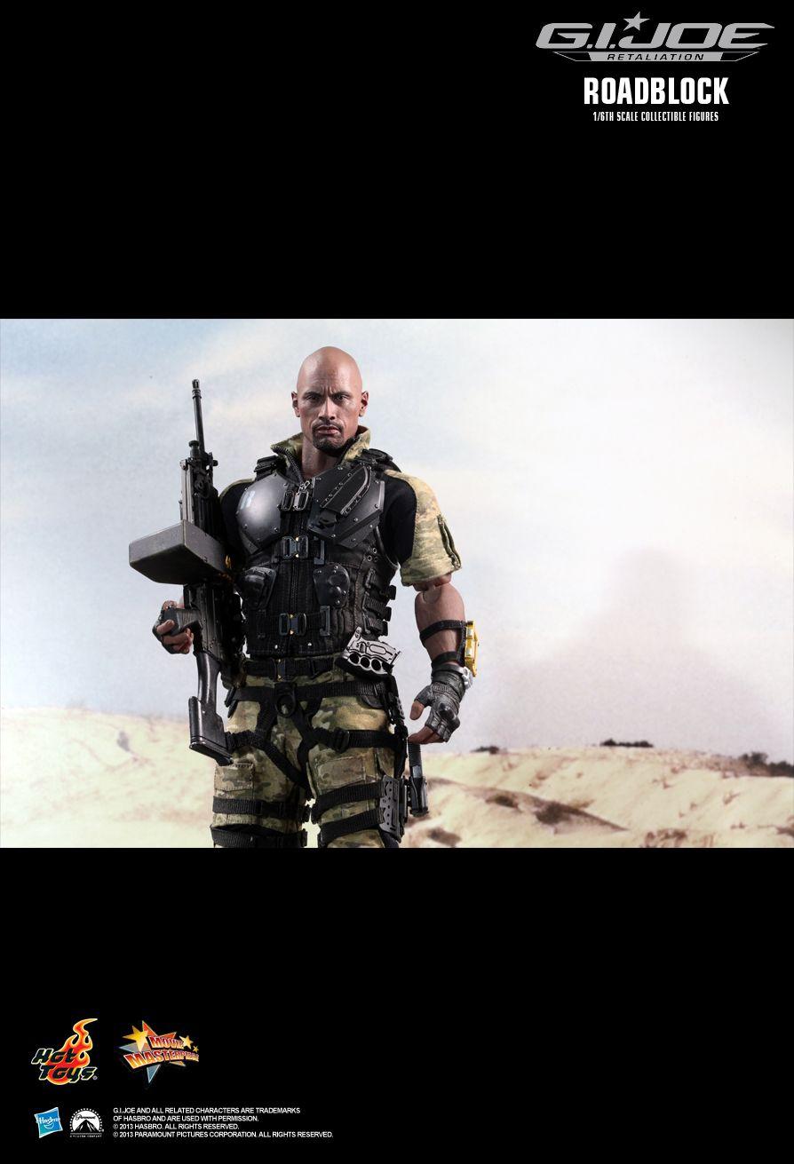 Action Figure Roadblock Dwayne Johnson (The Rock): G.I Joe Retaliation (MMS 199) - Hot Toys