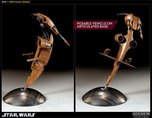 Action Figure S.T.A.P e Battle Droid: Star Wars Escala 1/6 - Sideshow Collectibles