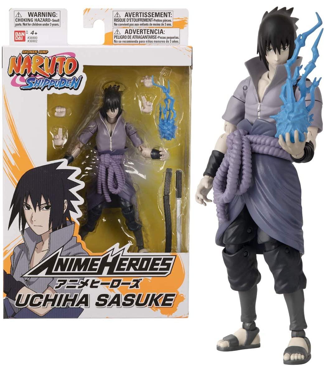 Action Figure: Sasuke Uchiha: Naruto Shippuden (Anime Heroes) Anime Mangá - Bandai