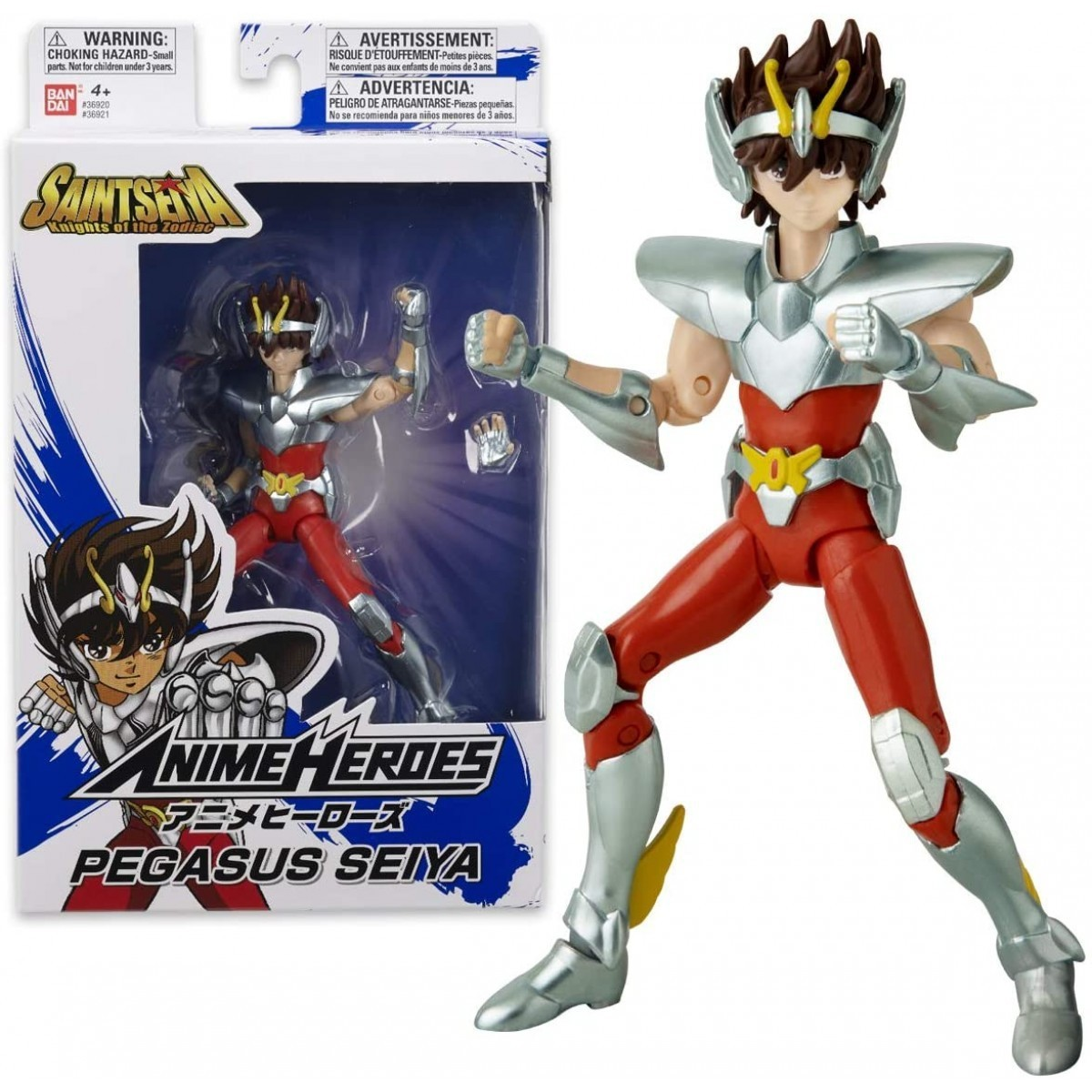 Action Figure Seiya de Pegasus: Os Cavaleiros dos Zodíaco (Anime Heroes) Boneco Colecionável - Bandai
